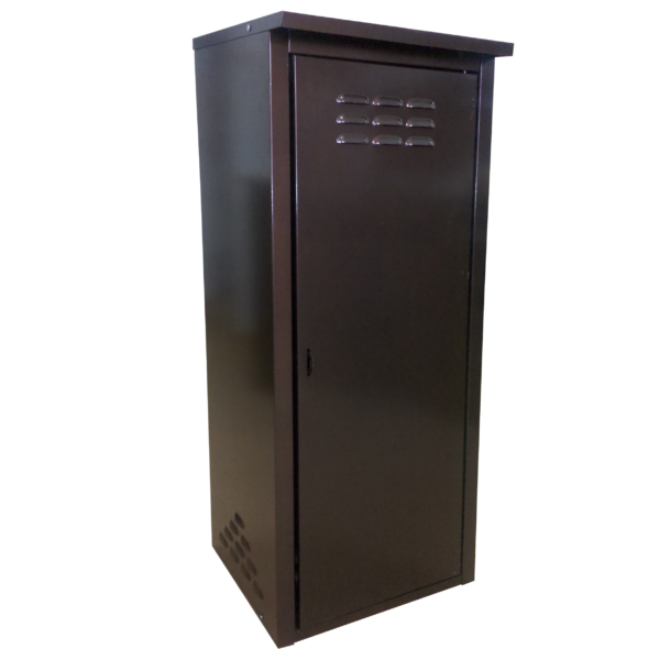 Шкаф из оцинкованной стали (одинарный) разборный (коричневый)