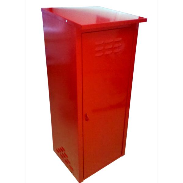 Шкаф из оцинкованной стали (одинарный) разборный (красный)