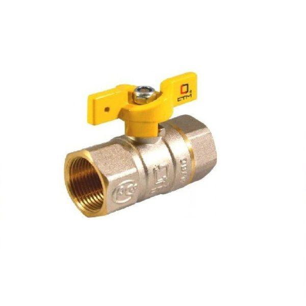 Кран шаровой для газа 3/4″ г/г бабочка CTM ГАЗ CGFFB034