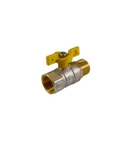 Кран шаровый для газа 1/2 г/г бабочка СТМ ГАЗ CGFFB012