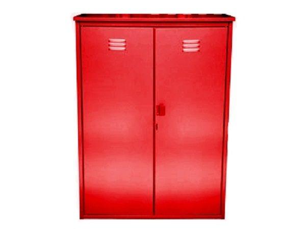 Шкаф из оцинкованной стали разборный двойной (красный)