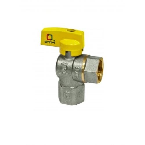 Кран шаровый газовый угловой 1/2 г/г СТМ ГАЗ CGLFB12 купить в СПБ